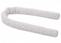 Babybay Nestchenschlange Piqué, grau mit weissen Sternen