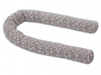 Babybay Nestchenschlange Piqué, taupe mit weissen Sternen