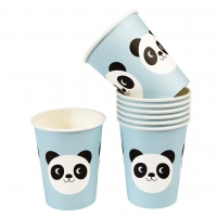 Rex London Kartonbecher Miko The Panda, 8 Stk.