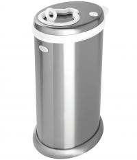 Ubbi Windeleimer aus Stahl, Silber