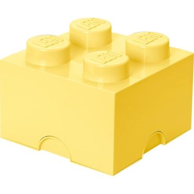 LEGO Brick 4 Storage, Aufbewahrungsbox, cool yellow