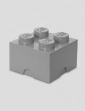 LEGO Storage Brick 4, Aufbewahrungsbox, stone grey