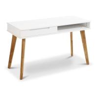 Milkii Kinder-Schreibtisch Miira, Weiss-Eiche