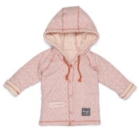 Snoozebaby Jacke, Dots Coral Red