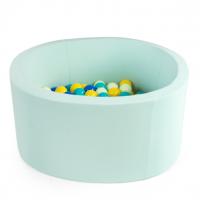 MISIOO Bällebad 90x30 cm, Mint inkl. 200 Bälle