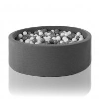 MISIOO Bällebad 115x50 cm, Grau inkl. 600 Bälle