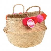 Rex London Aufbewahrungskorb - Pom Pom Belly Basket - Rosa