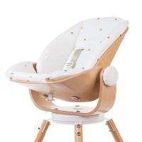 Childhome Kissen für Neugeborenen-Sitz Evolu 2 & ONE.80° - Weiss mit goldigen Punkten