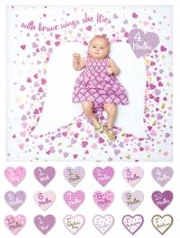 lulujo Babys First Year Swaddle-Blanket & Karten Set, Brave Wings