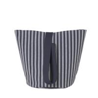 Ferm Living Wäschekorb Chambray Striped, mittel