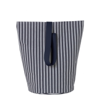 Ferm Living Wäschekorb Chambray Striped, gross