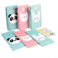Rex London Partytüten Panda & Bunny & Cat