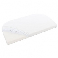 Babybay Original Maxi/Boxspring/Trend Spannbetttuch Organic Cotton, Weiss
