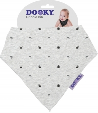 Dooky Dreieckstuch Light Grey Crowns