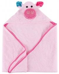 Zoocchini Baby Kapuzenbadetuch - Pinky das Schweinchen