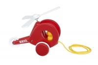 BRIO Nachzieh-Hubschrauber, rot