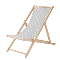Bloomingville Deck Chair Gartenstuhl, Grau