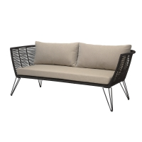 Bloomingville Lounge-Sofa Outdoor, Metall Schwarz