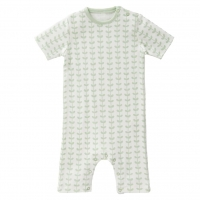Fresk Babypyjama kurzarm, Leaves Mint