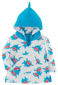 Zoocchini Frotte-Kapuzenshirt - Sherman der Hai