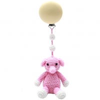 NatureZoo of Denmark Kinderwagen-Spielzeug, Light Pink Elephant