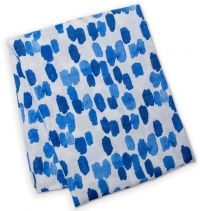 Lulujo Bambus Muslin Swaddle Mulltuch - Cobalt Dashes