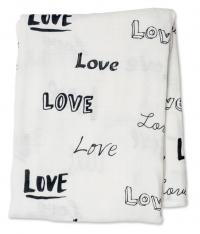 Lulujo Bambus Muslin Swaddle Mulltuch - Love