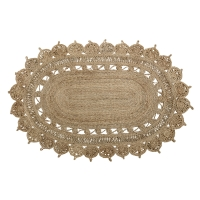 Bloomingville Teppich aus Jute, oval