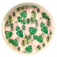 Rex London Tablett aus Bambusfaser - Tropical Palm