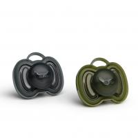 Herobility HeroPacifier Schnuller, Green&Black, 0-6 M. - 2er Pack