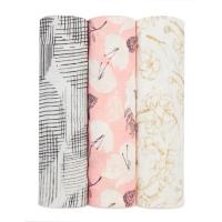 Aden Anais Silky Soft Swaddles, 3er-Pack - Pretty Petals