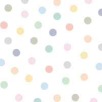 Tresxics textile Wandstickers, 50 farbige Punkte Pastel