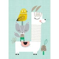 Petit Monkey Poster, Lama und Freunde