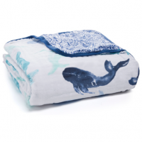 Aden Anais Kuscheldecke Dream Blanket, Seafaring - Whale