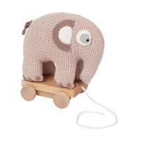 Sebra Häkel-Elefant auf Räder, Mitternacht Pflaume