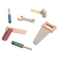Sebra Holzwerkzeug-Set, Warmgrau
