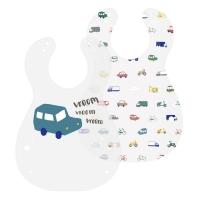 Sebra Kunststoff Lätzchen, 2er Pack, Little Driver