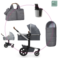 JOOLZ Day 3 Kinderwagen, Amazing Grey 2019 - 3KH Special Set