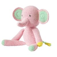 Global Affair Kuscheltier Elefant, rosa