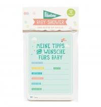 Milestone Baby Shower Wunschkarten
