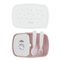 Bloomingville Lunch Box mit Besteck, Rosa