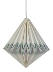 Sebra Papierlampe mit blauer Kordel