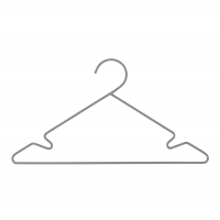 Sebra Kleiderbügel, 3 Stück - Grau