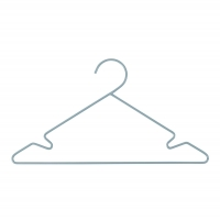 Sebra Kleiderbügel, 3 Stück - Wolkenblau