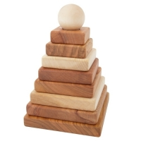Woodenstory Stapelpyramide natur