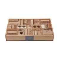 Woodenstory Love & Peace Holzklötze natur (FSC), 108 Teile