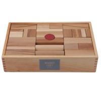 Woodenstory Holzklötze natur (FSC), 63 Teile