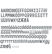Sebra Wandsticker, Buchstaben Grau