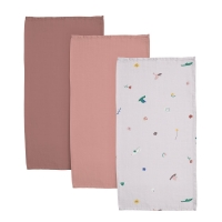 Sebra Muslin Mulltuch 3er Pack - Singing Birds