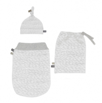 Snoozebaby Newborn Set Schlupfsack+ Mütze, 0-3 Monate, White Blizzard